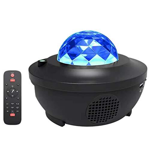 Luz nocturna proyector para dormitorio - Proyector de luz LED de estrella giratoria de onda océana luces nocturnas nebulosa proyector lámpara con Bluetooth y temporizador y mando a distancia