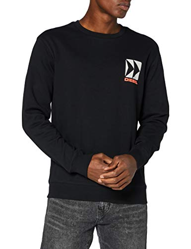 Diesel Herren Bmowt-Willy Sweatshirt, Schwarz (Black 900-0haxd), X-Small