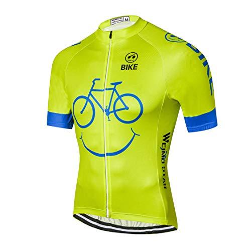 Weimostar - Maillot de ciclismo para hombre de manga corta para bicicleta...