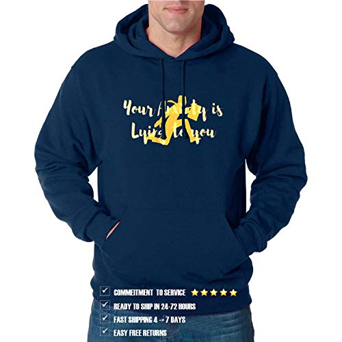 Your A_nxiety is Lying to You Gift Funny Hoodie for Men and Women (D1) (Design - 1)