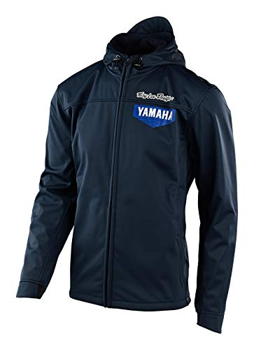 Troy Lee Designs Official Mens Yamaha L4 | Rain | Zip-Up | Pit Jacket (Navy, MD)