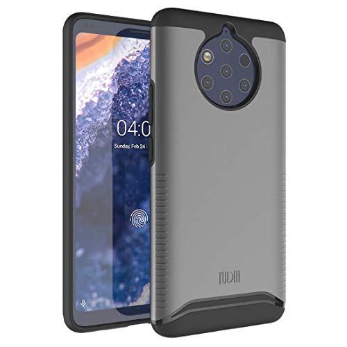 TUDIA Nokia 9 Pureview Custodia, Slim-Fit [Serie Merge] Estrema Protezione Premium Doppio Strato Ritagli Precisi Cassa del Telefono per Nokia 9 Pureview (Grigio)