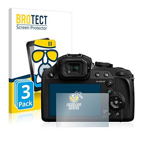 BROTECT Protector Pantalla Cristal Mate Compatible con Panasonic Lumix DC-FZ82 Protector Pantalla Anti-Reflejos Vidrio, AirGlass (3 Unidades)