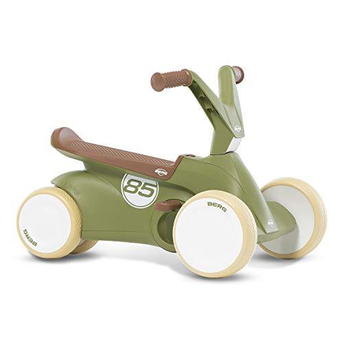 Berg GO² 2in1 Rutschauto Retro Grün | Rutscher und Laufrad, Kinderrutscher, Kinderauto mit Ausklappbare Pedale, Pedal-Gokart, Kinderspielzeug geeignet für Kinder im Alter von 10-30 Monaten