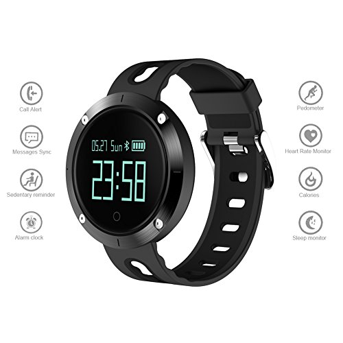 Dreamerd Fitness Tracker, sfigmomanometro Smart Watch Impermeabile Activity Tracker Wristband contapassi cardiofrequenzimetro Smartwatch per Android e iOS Smartphone, Smart Watch-DM58