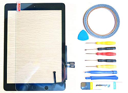 New Replacement Parts ForiPad 7 7th 2019 A1893 A1954 Glass Touch Screen Digitizer + Repair Tool Kit (Black)