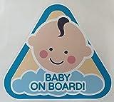 mural stickers Adesivo per Auto Babe A Bordo - Baby ON Board - AVVISO di Sicurezza E PRUDENZA 1 Pezzo - 15 X 15 CM Bambino