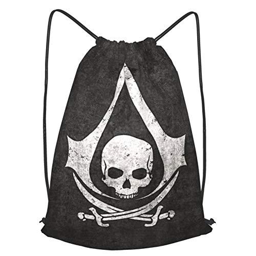 JJKKFG-H Assassin'S Creed Juego de mochila con cordón para mochila de almacenamiento a granel Bages para gimnasio de viaje, dos tamaños M
