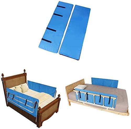 Almohadillas de hospital para adultos mayores, barandillas de seguridad, cojín de asistencia médica para parachoques de 48 x 15 x 0.8 pulgadas (1 par)