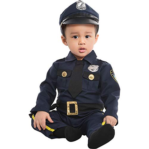 Amscan 846779 Baby Cop Cat Costume 0-6 Months Old