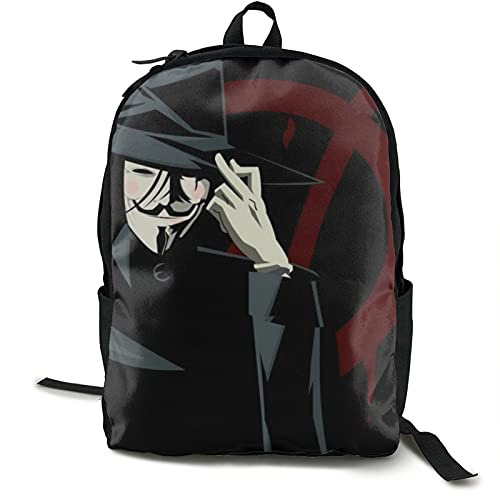 V para vendetta bolsa impermeable con dos compartimentos y portátil almacenamiento hombres mochila