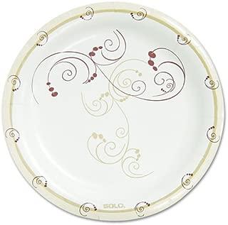 SOLO Cup Company Symphony Paper Dinnerware, Mediumweight Plate, 8 1/2 inch, Tan, 500/Carton