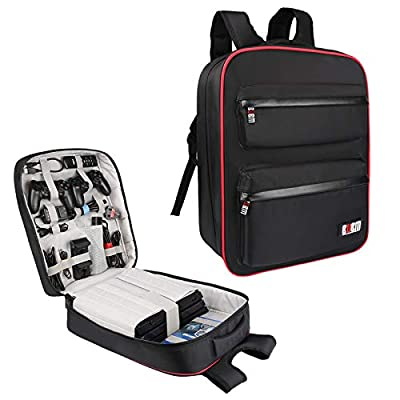 BUBM Waterproof Game backpack Travel Carrying Case Storage Bag for PlayStation 4 Pro System and Accessories Fits PS4 Xbox
