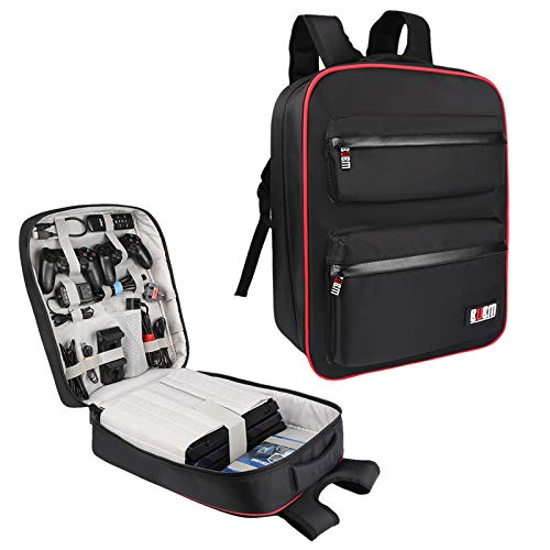 BUBM Waterproof Game backpack Travel Carrying Case Storage Bag for PlayStation 4 Pro System and...