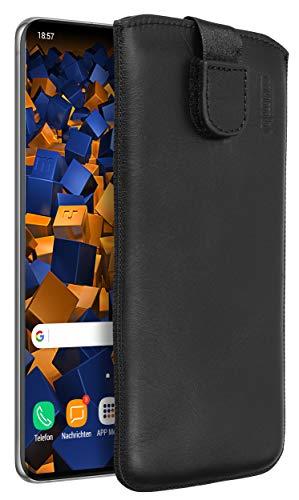 mumbi Echt Ledertasche kompatibel mit Samsung Galaxy S20 Hülle Leder Tasche Hülle Wallet, schwarz