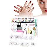 Nail Art Supplies, Nail Dotting Pen Lima de uñas Professional Nail Art Tips Nail Dotting Pen File Rhinestones Scissors Manicure Tool Set