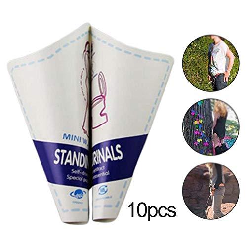 Dough.Q Juego de 10 orinales Hembra de Papel desechable para Mujeres, Dispositivo de micción portátil, Herramienta de baño Hembra al Aire Libre para Mujeres