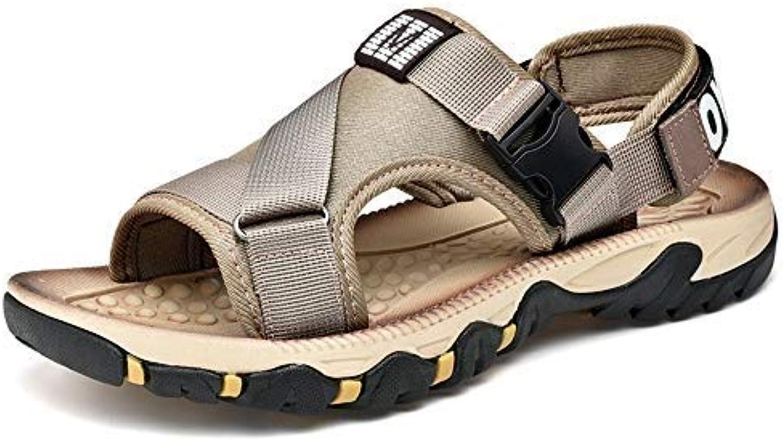 Yydt Men's shoes Outdoor Sports Sandals Men's Tide Sports Men's Casual Beach Slippers Wild Breathable Men's shoes (color   10.5 UK)