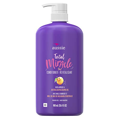 For Damage – Aussie Paraben-Free Total Miracle Conditioner w/ Apricot, 30.4 fl oz/bottle ( 4 Count )