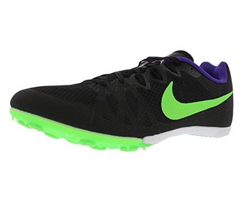 Nike Men's Zoom Rival MD 8 Track Spike Black/Fierce Purple/Green Strike Size 10.5 M US
