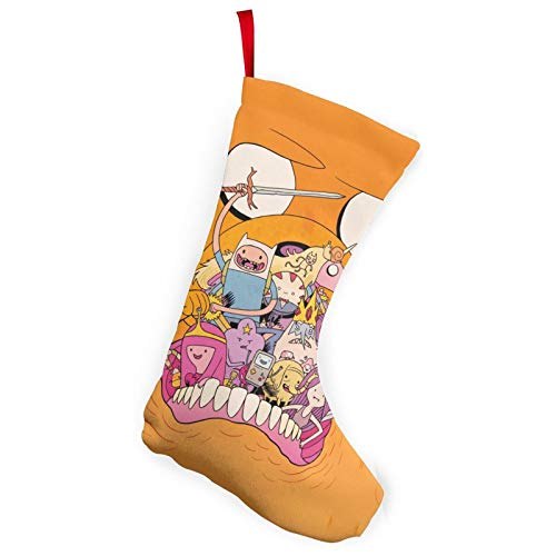 REECECAM Adventure Time Christmas Stockings In 2 Packs, Suitable For Family 10-Inch Brushed Fabric Decorations, Used For Fireplace Holiday Parties