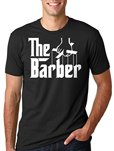 Silk Road Tees Barbero Hombres Camiseta de Regalo para el Peluquero barbería Camiseta Large Negro