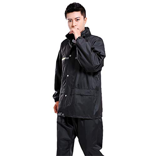 Keliour Waterproof The Best Choice for Heavyweight Waterproof Jacket Trouser Suit Outdoor, Waterproof Jacket Raincoat Hooded Raincoat (Color : Tibetan green, Size : 4XL)