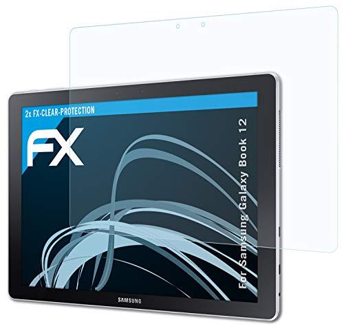 atFolix Schutzfolie kompatibel mit Samsung Galaxy Book 12 Folie, ultraklare FX Bildschirmschutzfolie (2X)