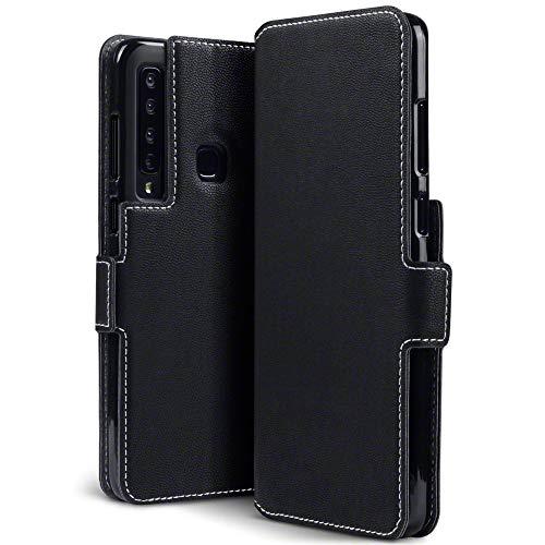 TERRAPIN, Kompatibel mit Samsung Galaxy A9 2018 Hülle, Premium Leder Flip Handyhülle Samsung Galaxy A9 2018 Tasche Schutzhülle - Schwarz