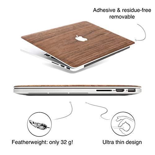 Woodcessories - Skin kompatibel mit MacBook 12 aus Holz - EcoSkin (Walnuss)