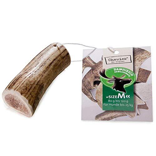 Chewies Damhirschgeweih für Hunde - Kaugeweih aus Abwurfstangen vom Damhirsch - natürlich & mineralstoffreich - Größe M: Für Hunde bis 25 kg