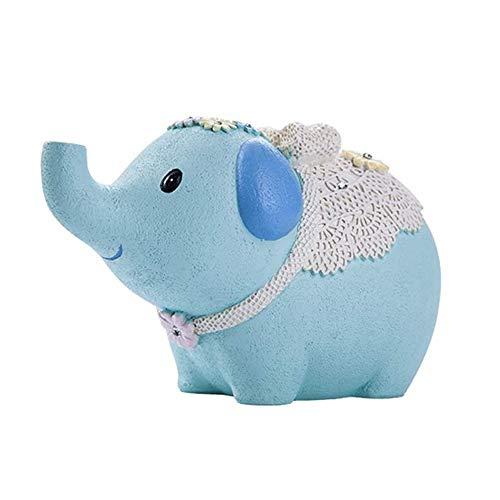 JJZXT De Dibujos Animados Hucha Hucha bebé Elefante del Dinero de Banco único Resina Hucha de Dinero de Banco único Hucha GIF