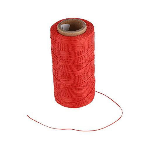 Kaxofang 260M 150D 1MM Costura De Cuero Encerado Cera Hilo De Mano Cable De La Cuerda Craft DIY Rojo