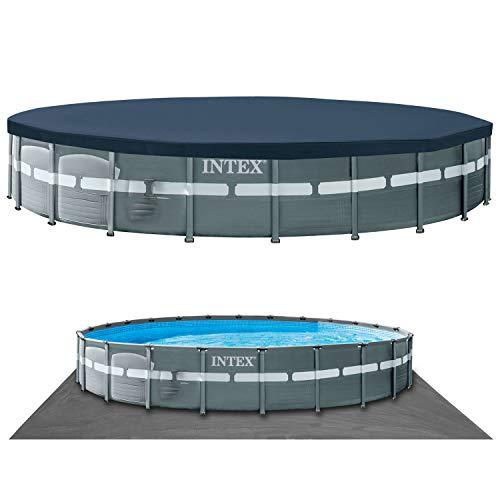 Intex 26340GN piscina fuori terra Piscina con bordi Piscina rotonda 47241 L Grigio