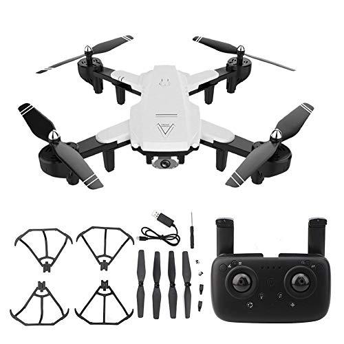 Dancal Folding Drone High Definition Dual Camera Headless Mode Automatic Follow Drone(White 1080P Optical)