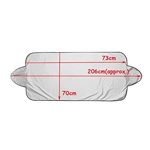 XDRE Parasol Coche Parabrisas Plegable Plateado Reflectante Ventana de Coche Parasol Visera de protección Solar Cubierta de succión Copa Cortina de Coches Cortina de Malla para Coche