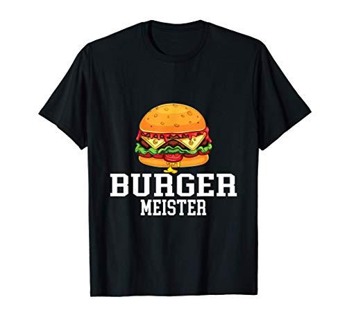 Burger Meister Bürgermeister Grillen BBQ Grill Koch T-Shirt