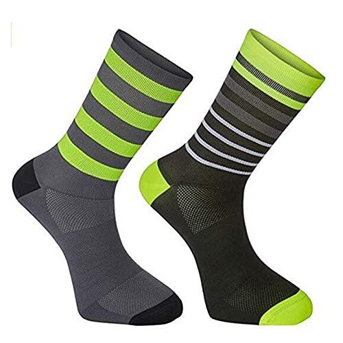 PJRYC Hombres Mujeres Ciclismo Calcetines MTB Socks Bicicletas Transpirables Calcetines de Bicicletas Deportes al Aire Libre Calcetines (Color : E4, Size : One Size)