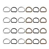 EXCEART 40 Piezas de Bronce de Metal D Hebillas de Anillo D Anillo de Anillo para Collares de Perros Arneses Bolso Bolso Monedero Ropa Correas Artesanales Accesorios de Bricolaje 2 Cm