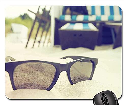 Mauspad - Urlaub Strand Sonne Sonnenbrille Strandkorb
