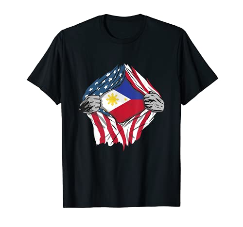 Filipino Blood Inside Me Shirt Philippines Flag T-Shirt