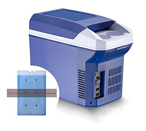 NOVHOME Mini Nevera Portatil para Coche, FrigoríFico Con Congelador de Compresor de 8 Litros Minirefrigerador Con AlimentacióN De Ca O Cc 12 V (Comprar Refrigerador Liberarse Cristales de Hielo Caja)