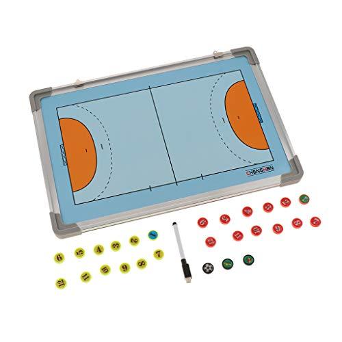perfeclan Premium Magnete Taktiktafel Fussball Taktikmappe Coach-Board mit Stifte Coach Mappe für Handball Volleyball Basketball Trainer