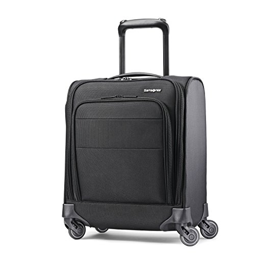 Samsonite Flexis Softside Expandable Luggage with Spinner Wheels, Jet Black, Underseater