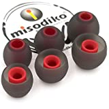 misodiko S350 Silicone Earbuds Tips for Sony WF/WI SP700N 1000X, MDR XB 50BS 50AP 510AS, EX 10LP 15AP 15LP 38iP 100IP 100AP/ Sennheiser Momentum in Ear- Replacement Earphoes Eartips (3-Pairs, Small)