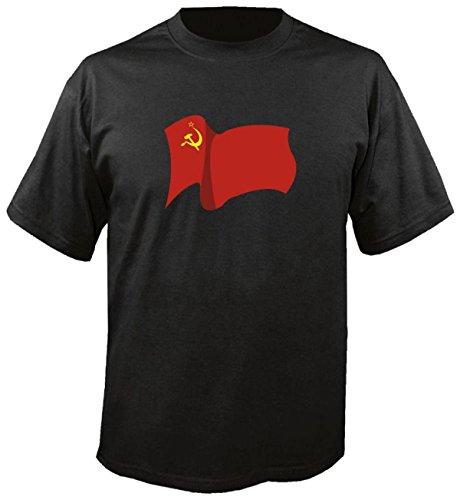 T-Shirt für Fußball LS192 Ländershirt L Mehrfarbig USSR - UDSSR Fahne/Flagge - Fanshirt - Fasching - Geschenk - Fasching - Sportshirt freie Farbwahl