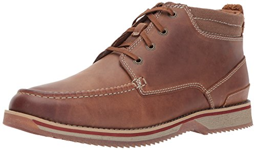 Clarks Men's Katchur Top Chukka Boot, Dark Tan Leather, 9.5 M US