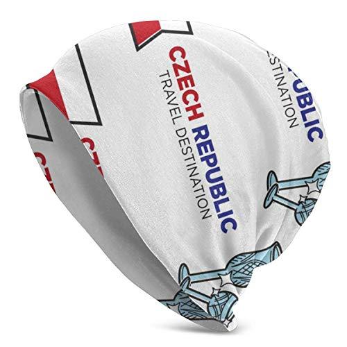 baowen Kristallglas Nationalflagge Tschechische Republik Männer Lady Knit Beanies Hut Hedging Cap