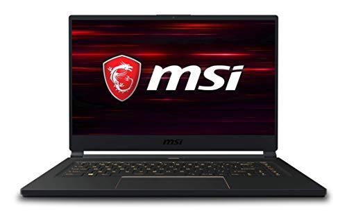 MSI GS65 Stealth 9SF-492UK 240 Hz Thin Bezel Gaming Laptop, Coffeelake i7-9750H, 16GB (8 GB x 2), 512 GB, RTX 2070 MAX Q, 8 GB, Windows 10 Home Advanced VR Ready