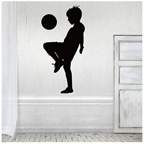 Voetbal bal Bang muursticker stuurdecoratie muursticker voor kinderkamer sport spelen jongen slaapkamer behang 42 x 85 cm
